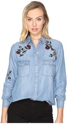 BB Dakota - Trent Embroidered Denim Shirt Women's Clothing $79 thestylecure.com