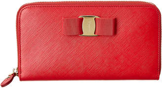 Salvatore Ferragamo Leather Long Wallet
