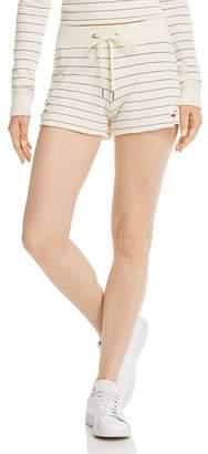 n:philanthropy Rum Distressed Striped Shorts