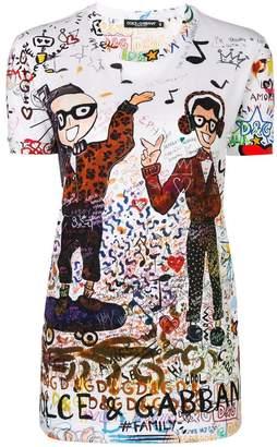 Dolce & Gabbana designer graffiti printed T-shirt