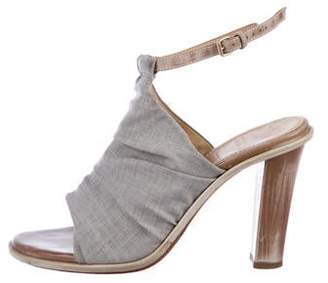 Brunello Cucinelli Canvas Ankle Strap Sandals