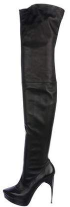 Lanvin Leather High Heel Boots