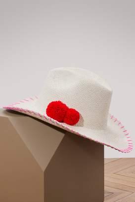 fa25a1d98da at 24 Sèvres · Sensi Studio Cowboy panama hat with pom-poms