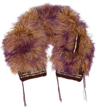 Marni Dip Dyed Mongolian Wool Scarf - Womens - Purple
