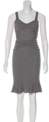 Christian Dior Wool Midi Dress grey Wool Midi Dress