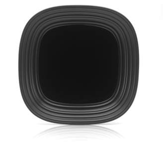 Mikasa Swirl White Square Dinner Plate