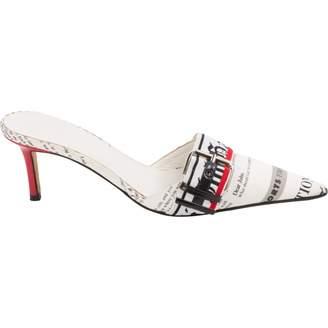 Galliano Cloth sandals