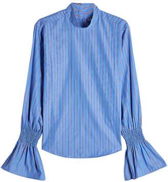 Maggie Marilyn Striped Cotton Shirt with Statement Cuffs