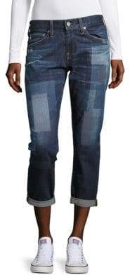AG Adriano Goldschmied Printed Cropped Denim Pants