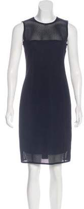 Akris Punto Sleeveless Mesh Knit Dress