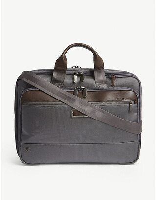 Briggs & Riley Grey @Work Expandable Nylon Briefcase