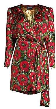 The Kooples Women's Metallic Rose Mini Dress