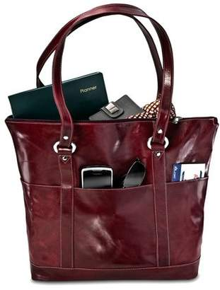 David King Leather Florentine Large Multi Pocket Tote