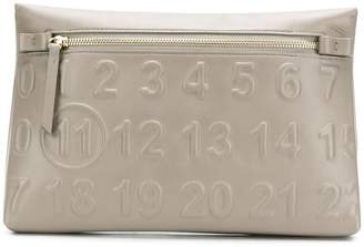 Maison Margiela embossed logo clutch