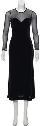 Ellen Tracy Linda Allard Velvet Evening Dress