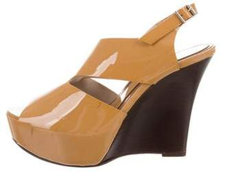 Marni Patent Leather Wedge Sandals