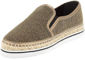 Jimmy Choo Dawn Metallic Fabric Sneakers