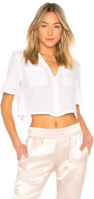 Enza Costa Cropped Shirt