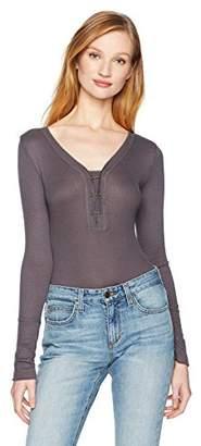 William Rast Women's Briana Henley Bodysuit