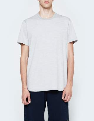 Reigning Champ SS Scalloped Crewneck - Tiger Jersey in Grey