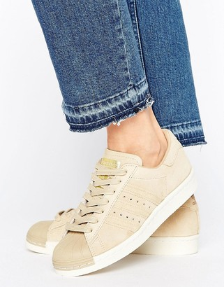 Adidas adidas Originals Beige Superstar 80S Sneakers $100 thestylecure.com