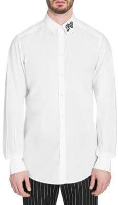 Dolce & Gabbana King Crystal Collar Shirt
