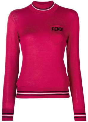Fendi logo turtle-neck sweater