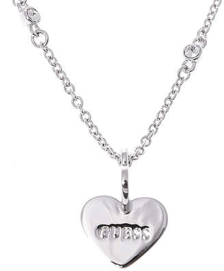 GUESS (ゲス) - ゲス GUESS ME & YOU TWISTED HEARTS & CRYSTAL NECKLACE (SILVER)