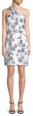 MIDNIGHT Eri One-Shoulder Floral Dress