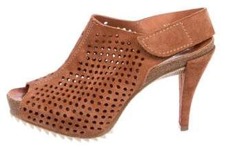 Pedro Garcia Perforated Suede Sandals