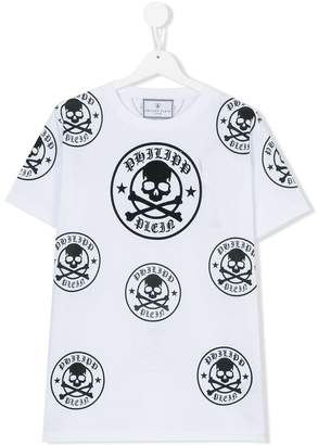 Philipp Plein Junior skull print T-shirt
