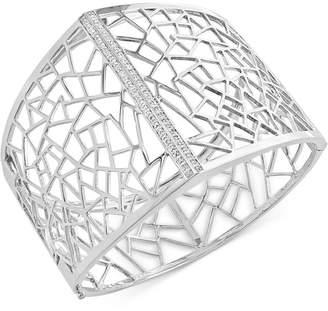 Effy Geo by Diamond Openwork Bangle (1/5 ct. t.w.) in Sterling Silver