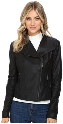 Marc New York by Andrew Marc - Felix 19 Feather Leather Jacket Women's Jacket $420 thestylecure.com