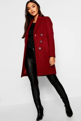 boohoo Petite Double Breasted Duster Coat