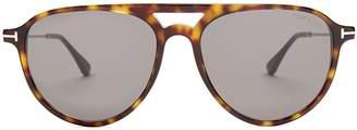 Tom Ford Carlo aviator acetate sunglasses