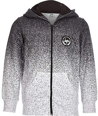 River Island Boys Hype grey speckled zip front hoodie