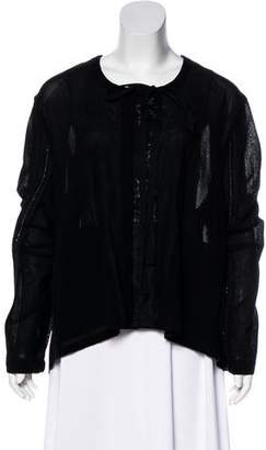 Ann Demeulemeester Embellished Lightweight Cardigan w/ Tags