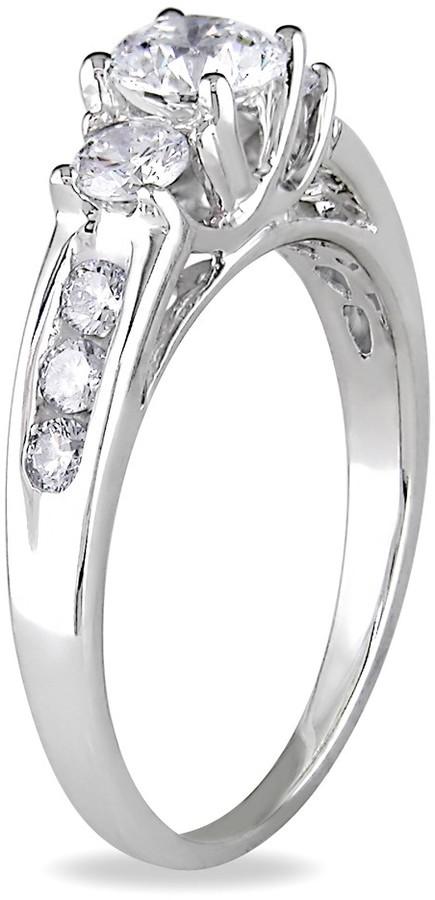 Ice.com Round Cut Diamond 14K White Gold Bridal Engagement Ring (1 ct. tw.)
