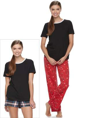 So Juniors' SO Pajamas: Knit Pants, Shorts & Short Sleeve Top 3-Piece PJ Set