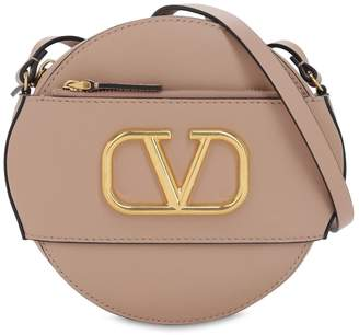 Valentino Vlogo Leather Circle Bag