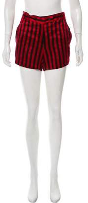 Ann Demeulemeester Striped Mini Shorts