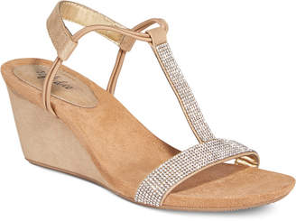 Style&co. Mulan 2 Embellished Evening Wedge Sandals, Only at Macy's $44.98 thestylecure.com