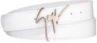 Giuseppe Zanotti Men's Signature Leather Logo Belt