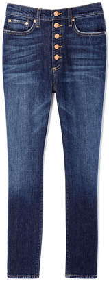 Alice + Olivia AO.LA by Good High-Rise Button-Fly Jeans