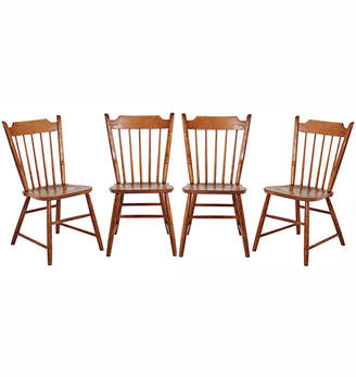Rejuvenation Set of 4 Windsor-Style Maple Chairs