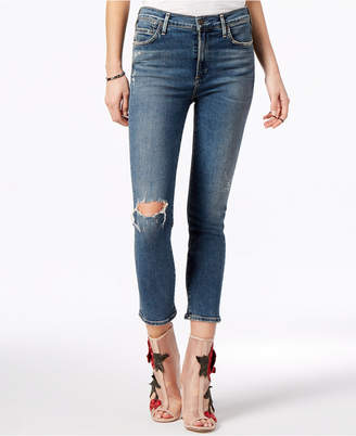 Citizens of Humanity Rocket Crop High Rise Ripped Skinny Jeans