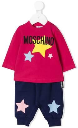 Moschino Kids star print sweat suit