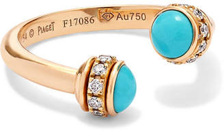 Piaget Possession 18-karat Rose Gold, Turquoise And Diamond Ring