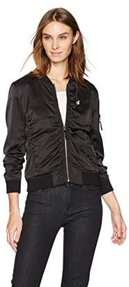 Lucky Brand Women's Rouched Bomber Jacket