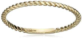 14k 1mm Rope Band Stackable Ring